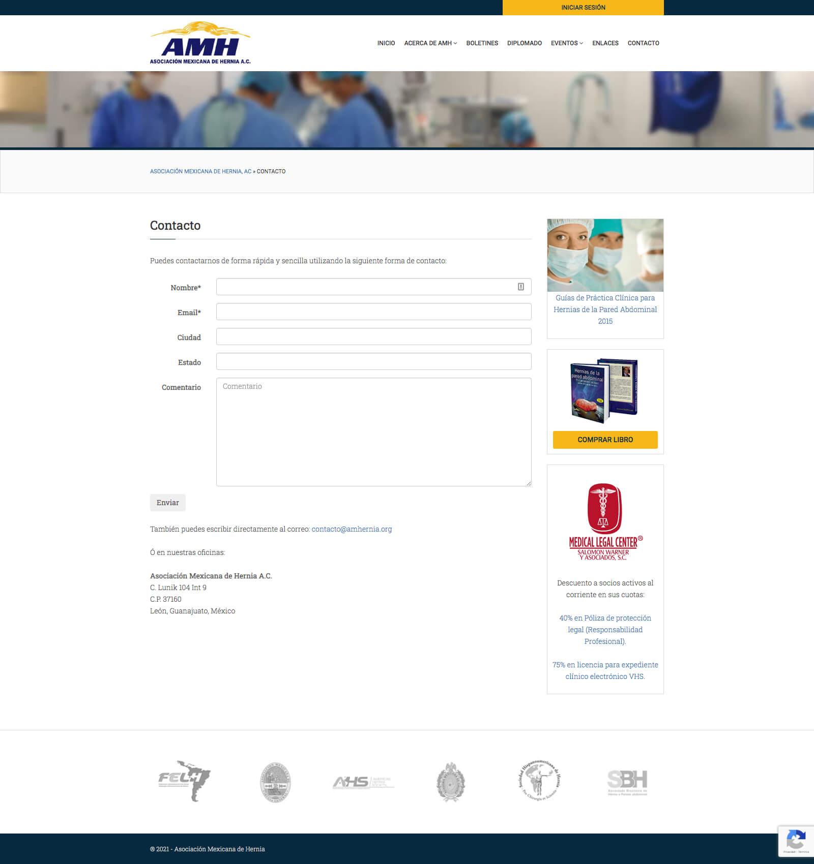 AMHernia - Contacto