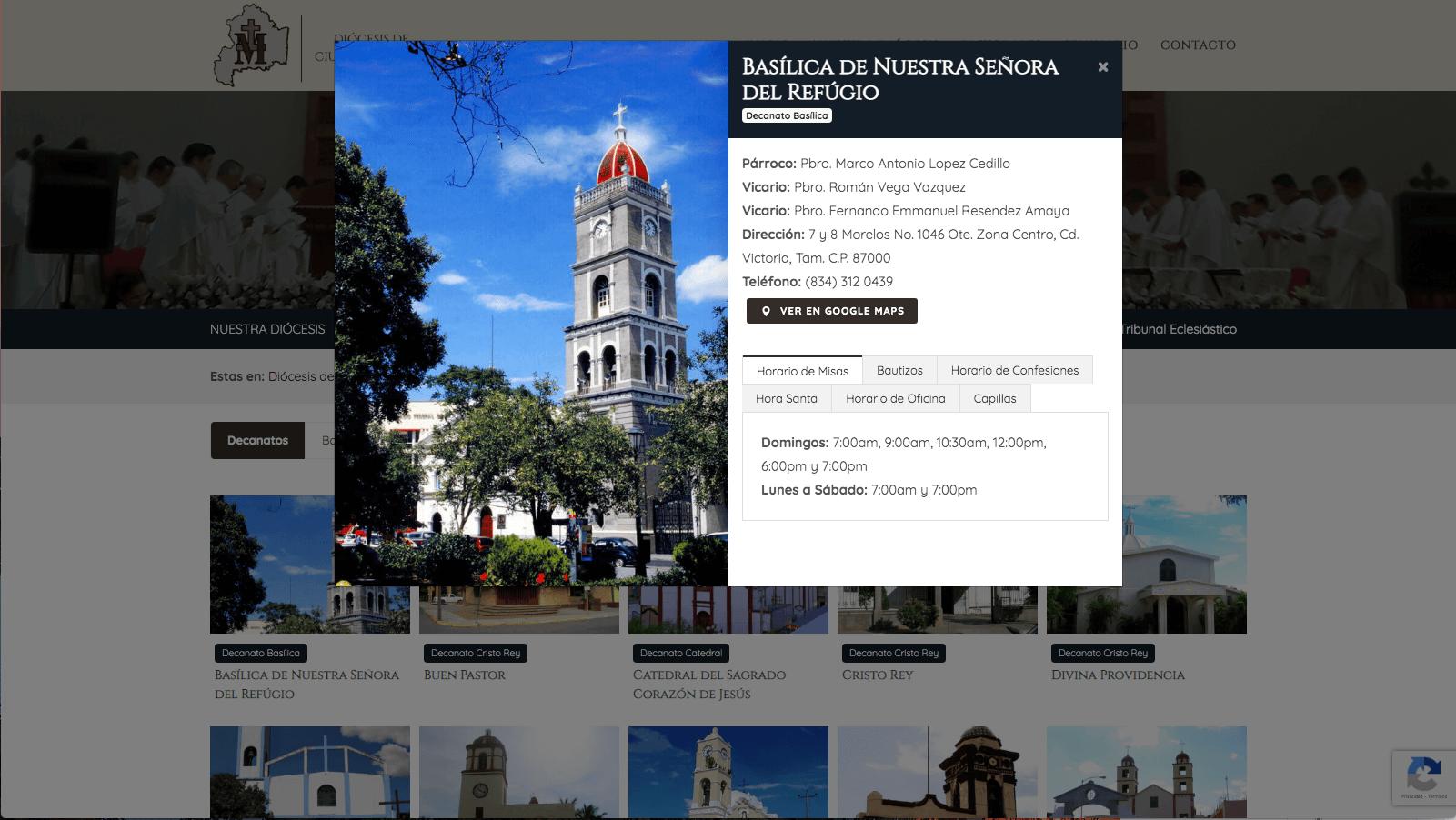 Diocesis de Victoria - Información Parroqiua