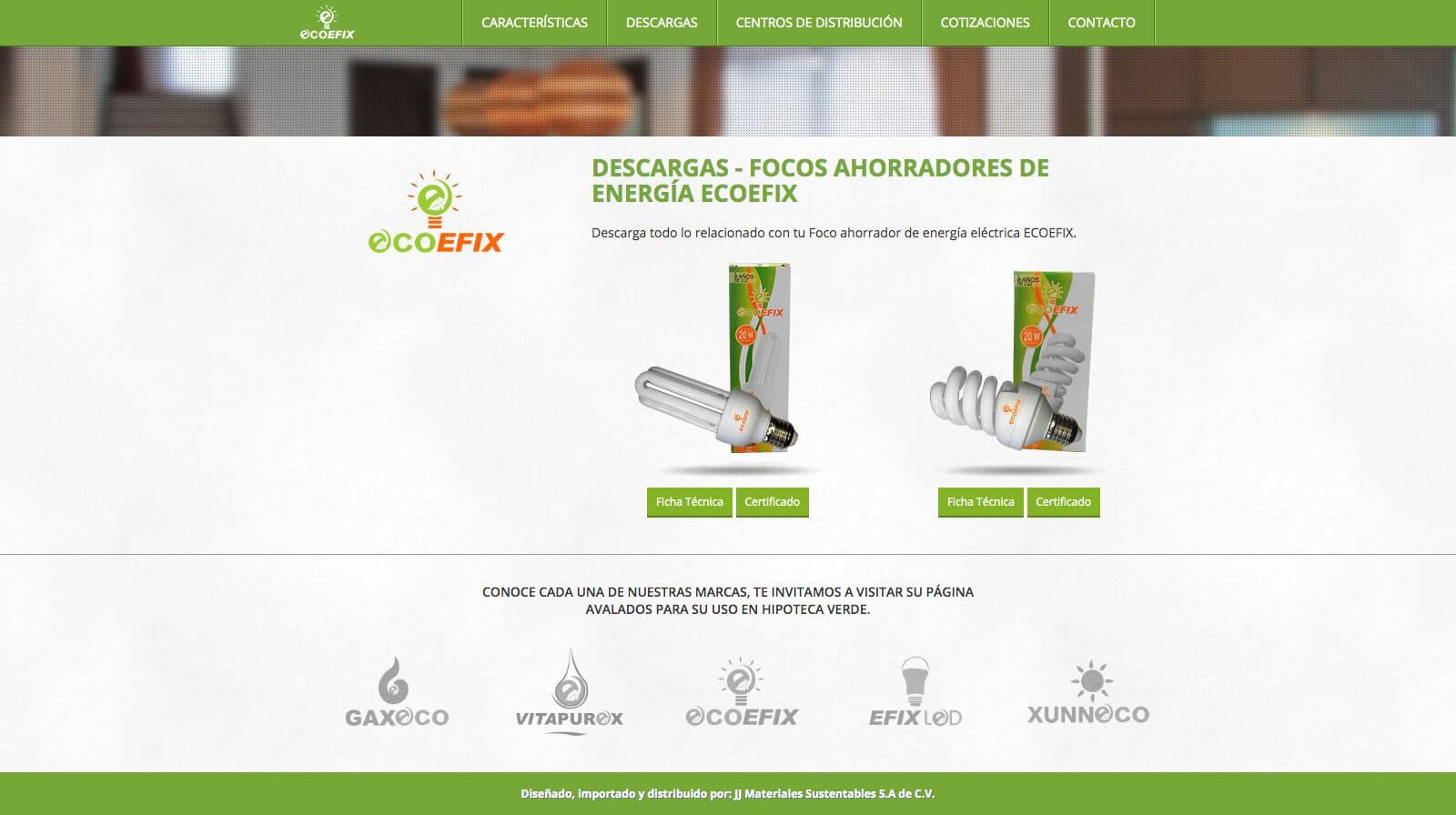Ecoefix - Descargas