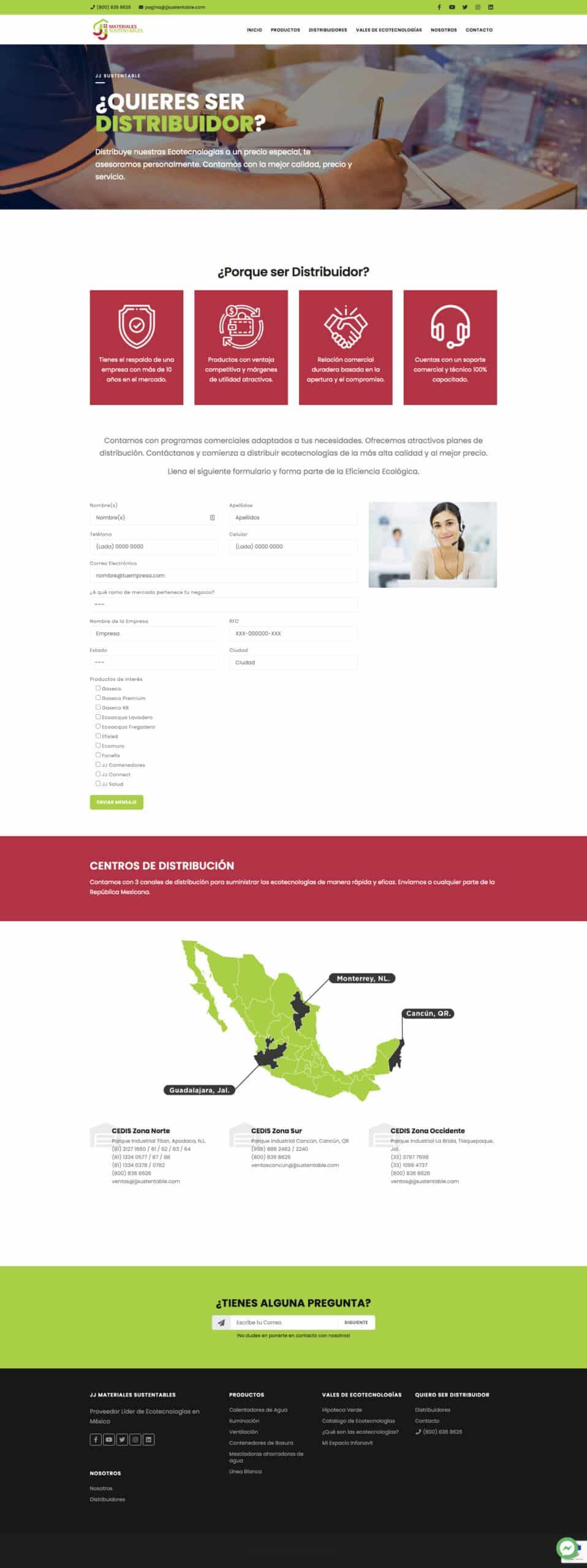 JJ Sustentable - Distribuidores